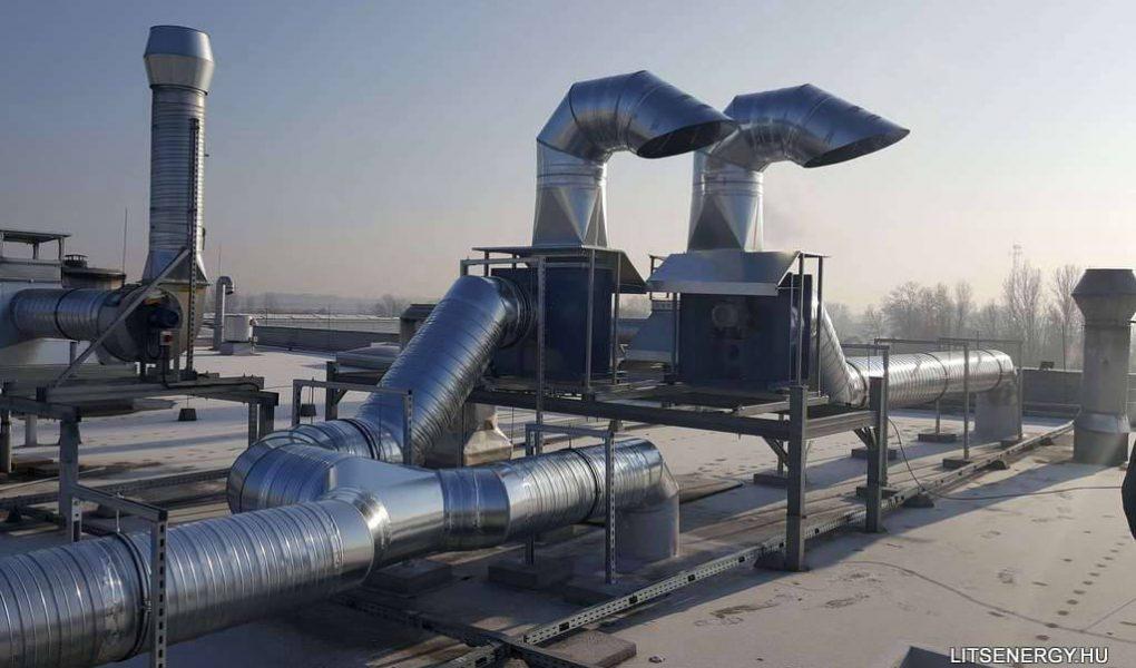 Egy légtechnikai berendezés összeszerelésének lépései